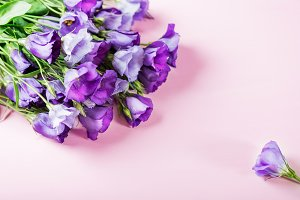 Beautiful Bouquet of Purple Eustoma