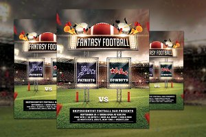 Fantasy Football Game Flyer Template