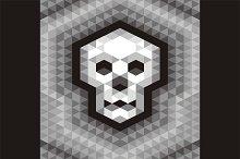Skull Seamless Geometric Pattern
