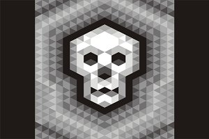Skull Seamless Geometric Pattern