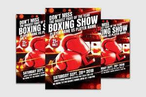 Boxing Show Flyer Template