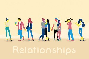 Young People Relationships Vector