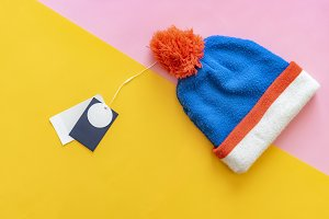 new warm wool winter cap hat with pr