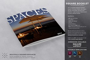 Square Brochure / Booklet Template