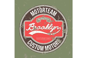 Motorteam Brooklyn. T-shirt graphic