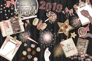 New year planner clipart collection