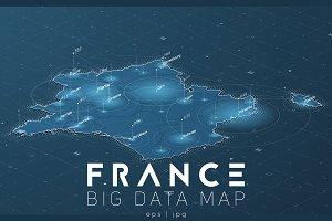 France Big Data Map