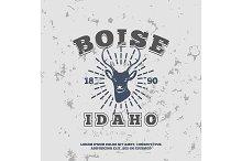 Boise, Idaho.  t-shirt graphic