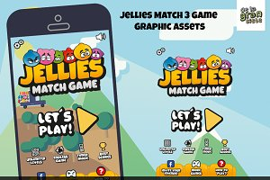 Jellies Match 3 Game Assets