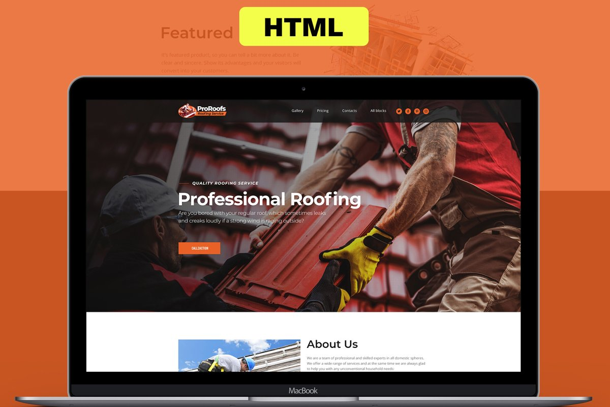 Responsive Roofing Landing Page