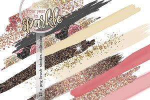 New year brushes collection