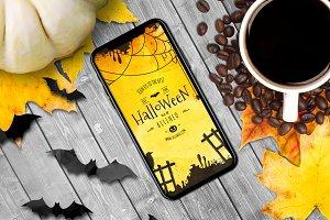 Halloween iPhone Mock-up #26