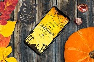 Halloween iPhone Mock-up #25