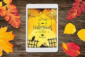 Halloween Tablet Mock-up #21