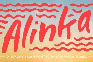 Alinka Brush Font