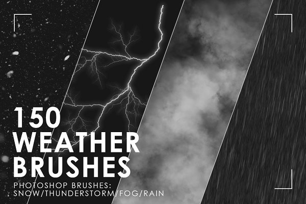 150 Weather Photoshop Brushes