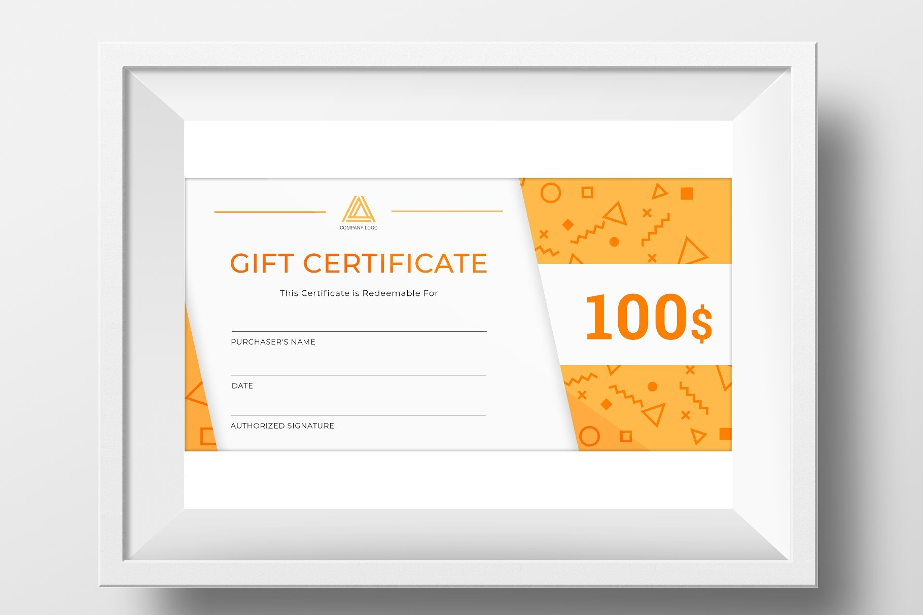 Gift Certificate Template Stationery Templates Creative Market