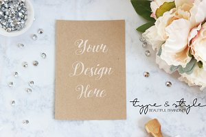 Styled Stock Photo kraft paper card