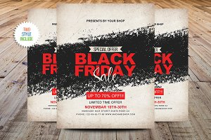 Vintage Black Friday Sale Flyer