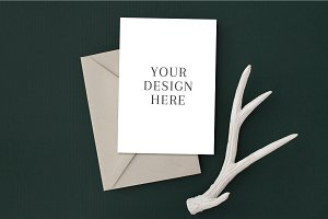Holiday Card Mockup with Antler