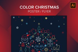 Color Christmas Poster / Flyer