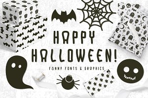 Halloween Fonts & Graphics
