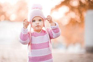 Baby girl closeup