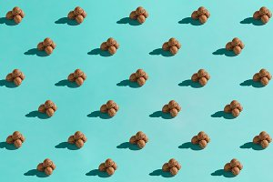 Background made from walnuts on the