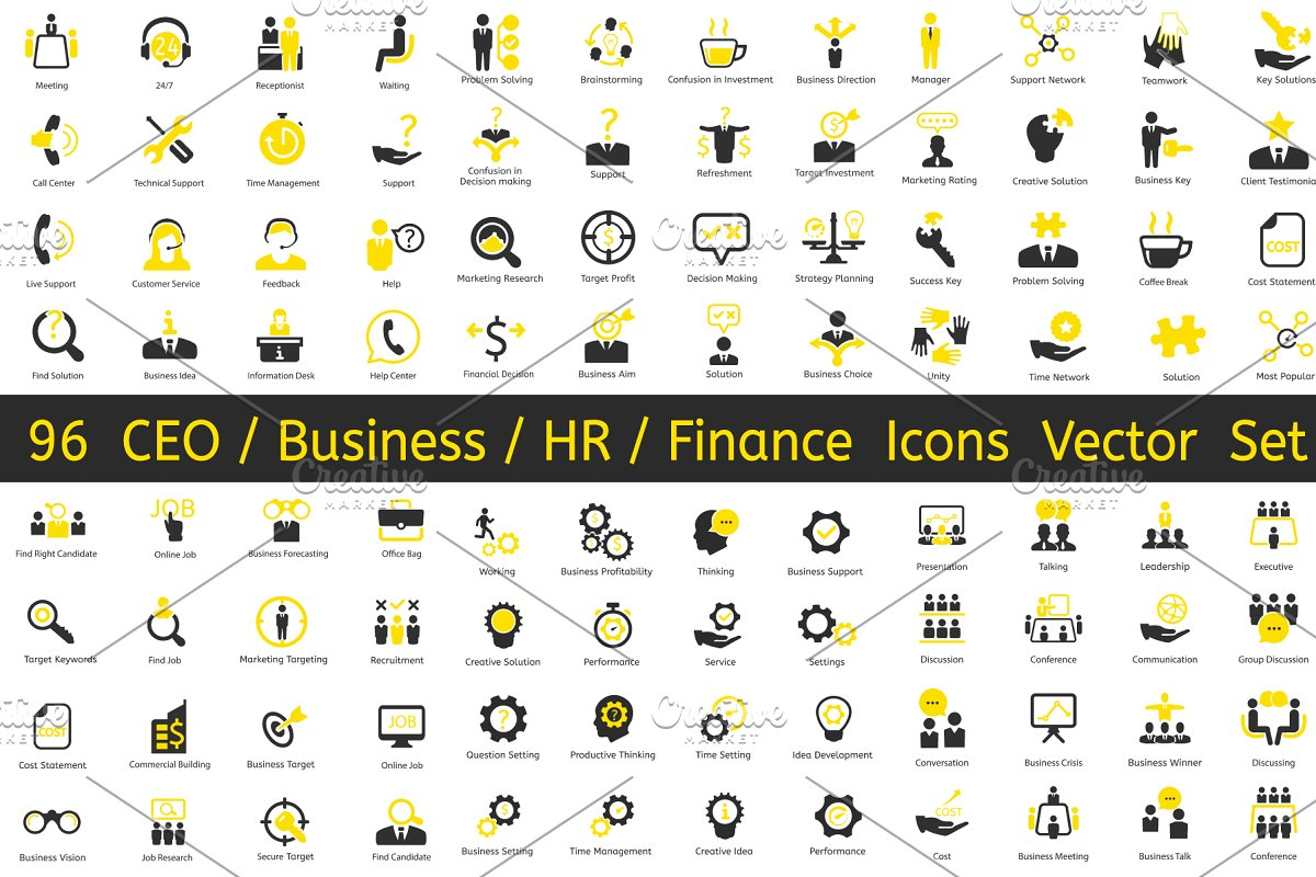 96 CEO / Business / HR vector icons in Business Icons - product preview 8