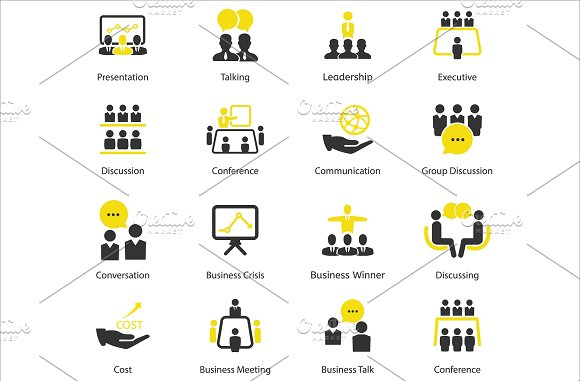 96 CEO / Business / HR vector icons in Business Icons - product preview 2