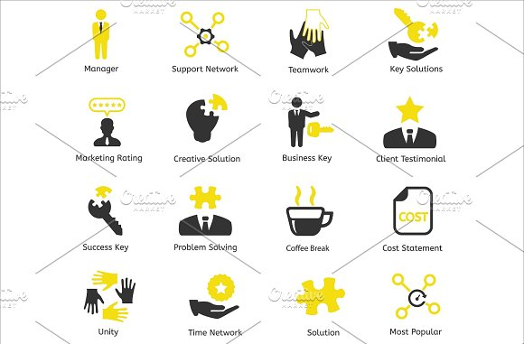 96 CEO / Business / HR vector icons in Business Icons - product preview 4