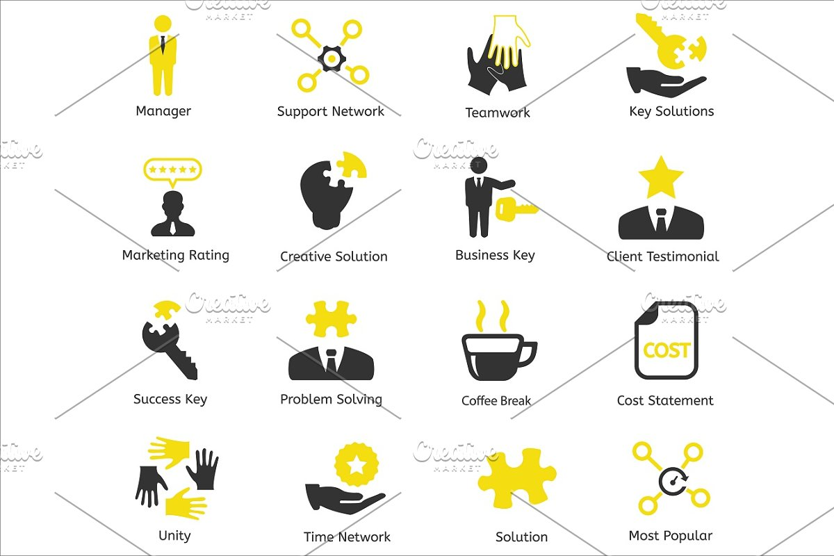 96 CEO / Business / HR vector icons