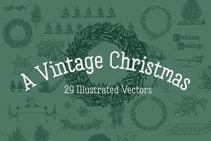 A VINTAGE CHRISTMAS | 29 Vectors