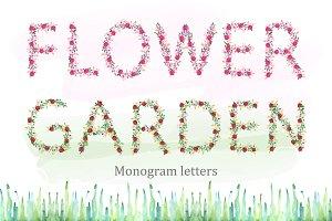 Flower monogram letters