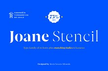 Joane Stencil by  in Serif Fonts
