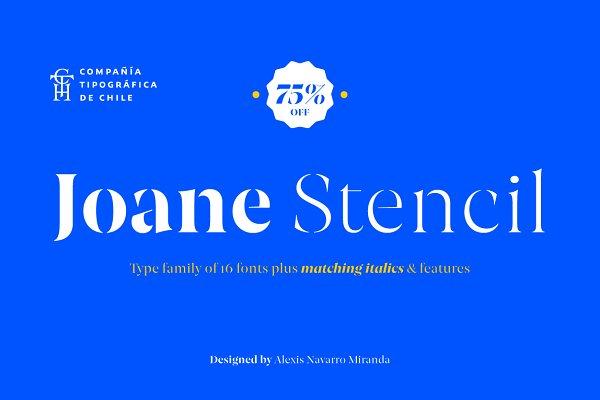 Serif Fonts: CTCH - Joane Stencil