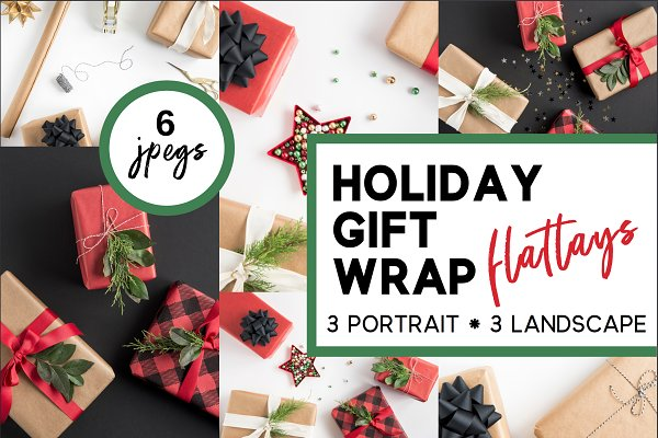 Holiday Gift Wrap Flatlays (6)
