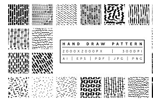 Hand draw Patterns Bundle I
