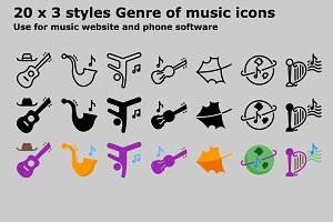 Genre of music icons