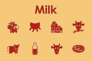 16 MILK simple icons