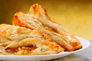 Apple Turnovers on a plate and grani