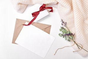 Craft envelope, paper blank, gift