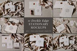 Deckle Edge Stationary Mockup Bundle