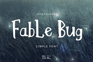 Fable Bug Simple Font