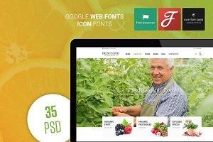 FreshFood – OrganicFood PSD Template