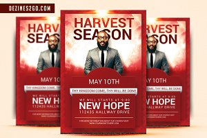 Harvest Season Church Flyer Template