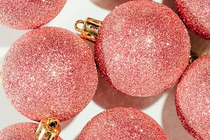 Glitter balls Christmas ornament