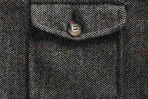close up view of grey woolen pocket