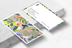 Wander Floral Business Card Template