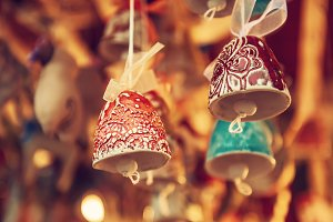 Souvenir bells at the market